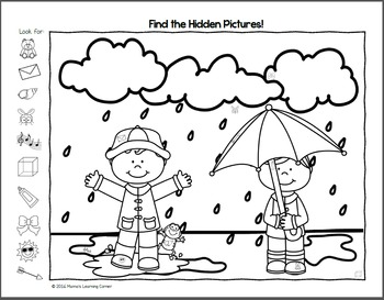 Spring Hidden Picture Worksheets by Mama's Learning Corner