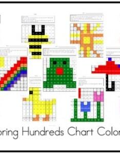 Spring hundreds chart coloring also by mrsbeach tpt rh teacherspayteachers