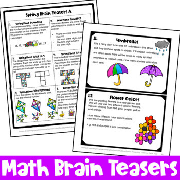 Spring Activities: Spring Math Games, Puzzles and Brain