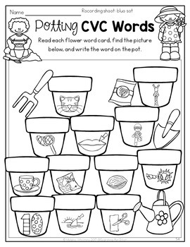 Spring Math & Literacy Centers {Kindergarten} by Searching