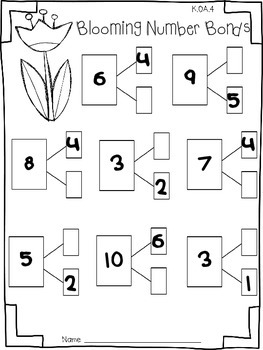 Spring Math Print and Go! Addition & Subtraction (Common