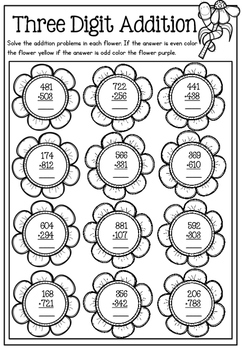 Spring Math Printable No Prep Packet by Prepping for