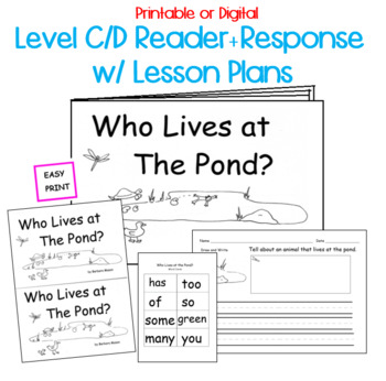 Spring POND life Printable Book Guided Reading... by