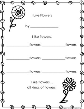 Spring Poetry Writing Frames for 1st and 2nd Grade by