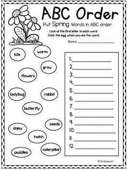 Spring Printables, Math, Phonics, Comprehension, Writing