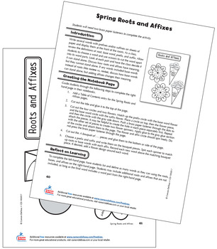 Spring Roots and Affixes Grade 4 Free Printable by Carson