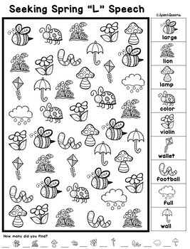 Spring Speech Therapy Seeking Activity {articulation} by