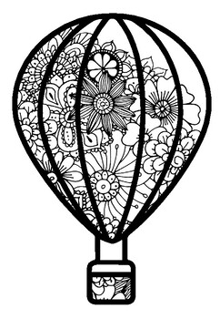 Spring Art Activity, Summer, Fall, Hot Air Balloons