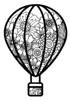 Spring Art Activity, Summer, Fall, Hot Air Balloons