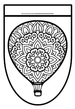 Elementary Art Sub Plan, Hot Air Balloons, Mandala Pattern