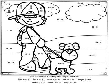 Spring & Summer Math / Outdoor Fun Addition & Subtraction