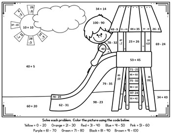 Spring & Summer Math / Outdoor Fun Addition & Subtraction
