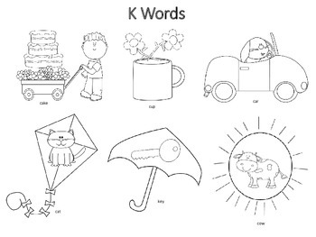 Spring Themed Articulation K & G Sounds Coloring Work