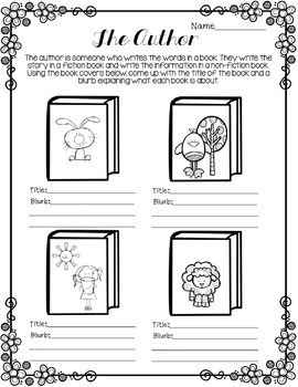 Library No Prep Printables Spring Themed by Little Library
