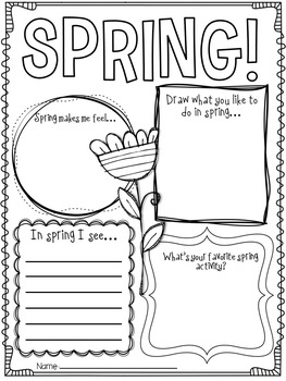 Hello Spring! {Spring Writing Activities and Craft} by