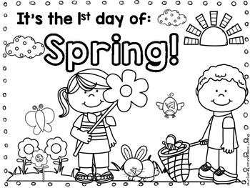 Spring coloring page FREEBIE by Sweet Sounds of