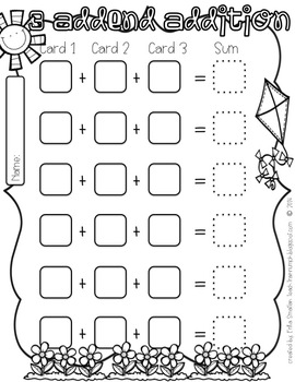 Spring into... Fun! {Spring Math Activities for First