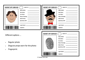 Spy ID Card / Secret Agent Template by Suzanne Welch