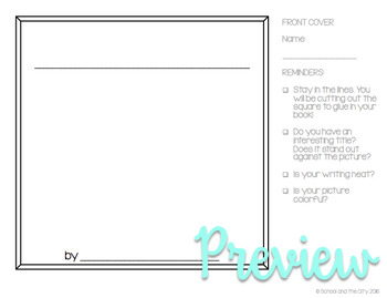 Square Writing Templates (for Target Dollar Spot books) by