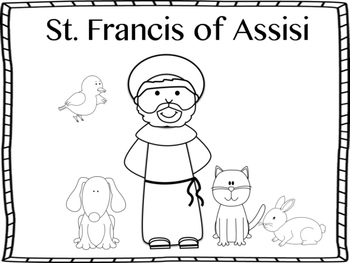 St. Francis of Assisi Mini Book and Coloring Page by Miss