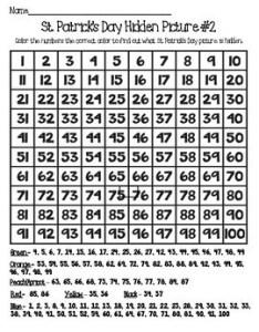 St patrick   day chart hidden pictures also by penley pointe tpt rh teacherspayteachers