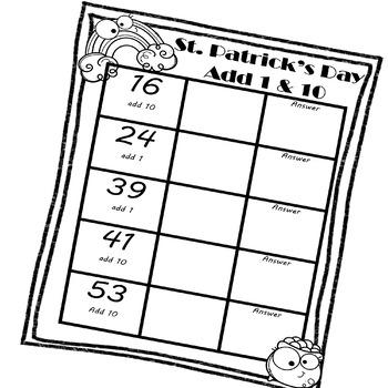 St. Patrick's Day Base Ten Blocks (Adding 1, 10, & 100) by
