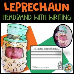St Patricks Day Craft Leprechaun Craft Hat and Beard Headb