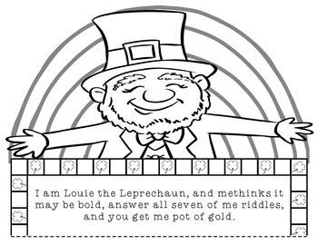 St. Patrick's Day Math: Multi-Step Word Problem Craftivity
