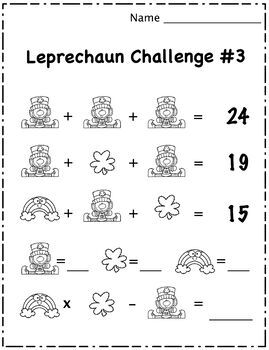 St. Patrick's Day Math Puzzle Challenges & Brain Teasers