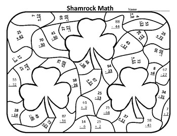 St. Patrick's Day Math Worksheets 1st St Patricks Day Math