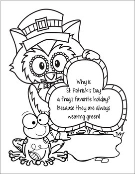 St Patrick's Day Riddle Coloring Pages by Creations by
