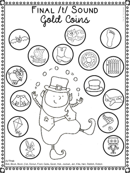 St Patrick's Day Speech Sound Worksheets- No Prep by The