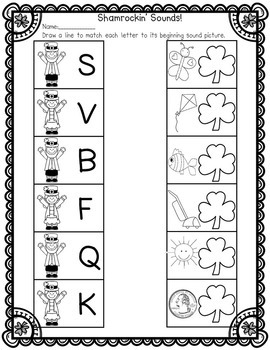 St. Patrick's Day Alphabet Match-Up by Herding Kats in
