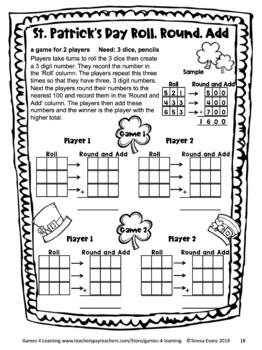St. Patrick's Day Math Games Third Grade by Games 4