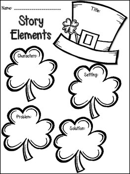 St. Patrick's Day Math & Literacy Print & Go {2nd Grade