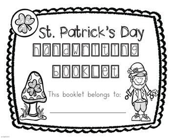 St. Patrick's Day Zaner-Bloser Handwriting & Parts of