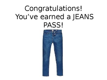 jeans day pass worksheets