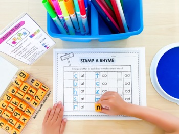 Stamp It Out Literacy Center- 25 Stamping Centers by