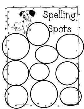 Stamp Out Your Spelling Words, Rainbow Write, Spelling