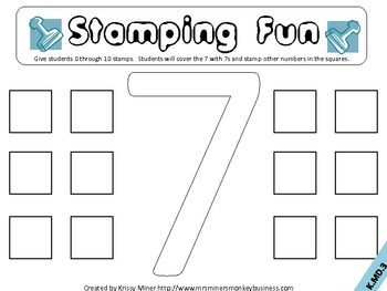 Stamping Math Centers Set 2: #s 6 to 10 Common Core