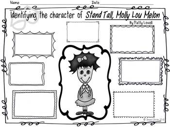 Character Analysis Freebie inspired by Stand Tall, Molly