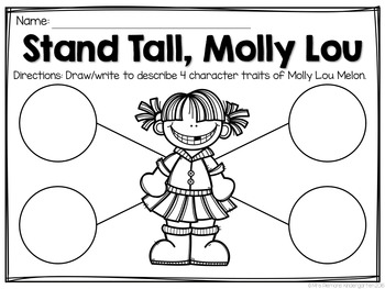 Stand Tall Molly Lou Melon FREEBIE: Read & Respond by Mrs