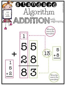 also standard algorithm regrouping vertical form mini anchor chart rh teacherspayteachers