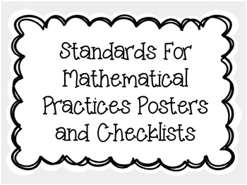 Standards For Mathematical Practices Posters and