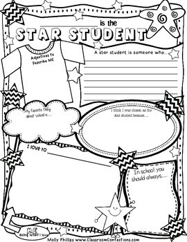 Star Student Poster: perfect for Student of the Week by