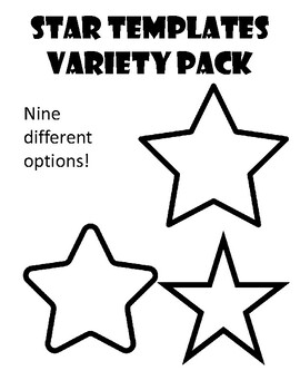 Star Template Star Coloring Page Star Outline Star