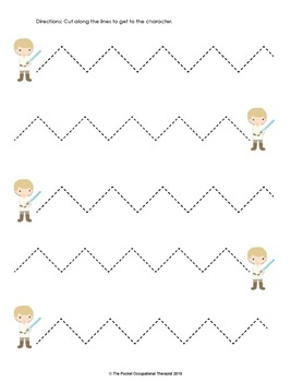 Star Wars Cutting Practice Worksheets by Pocket