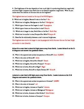 Hr Diagram Worksheet Answers : diagram, worksheet, answers, Stars:, Hertzsprung-Russell, Diagram, Worksheet, Paige