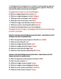 Stars: Hertzsprung-Russell Diagram Worksheet by Paige Lam ...