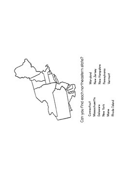 United States Regions States and Capitals Flipbook and